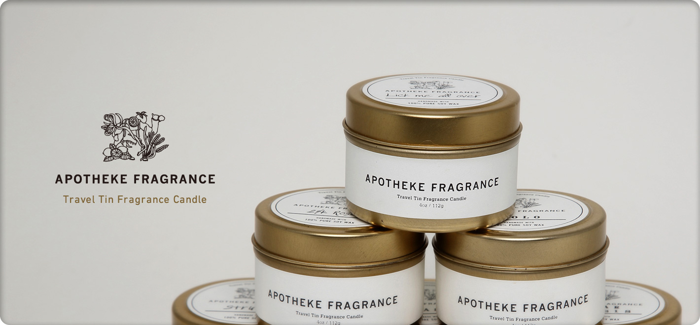 APOTHEKE FRAGRANCE TRAVEL TIN CANDLE