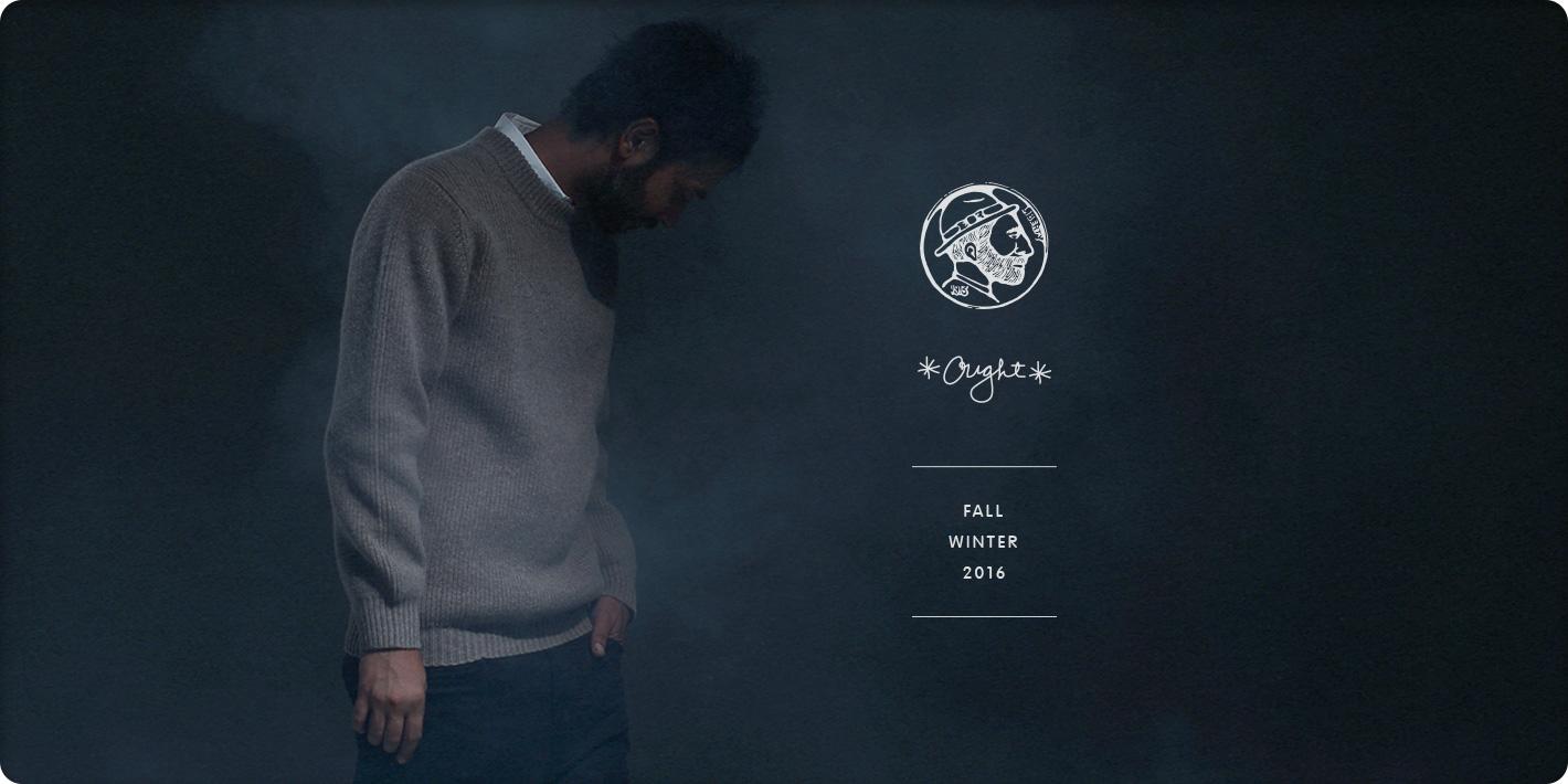 OUGHT Fall/Winter 2016 クルーネックニット