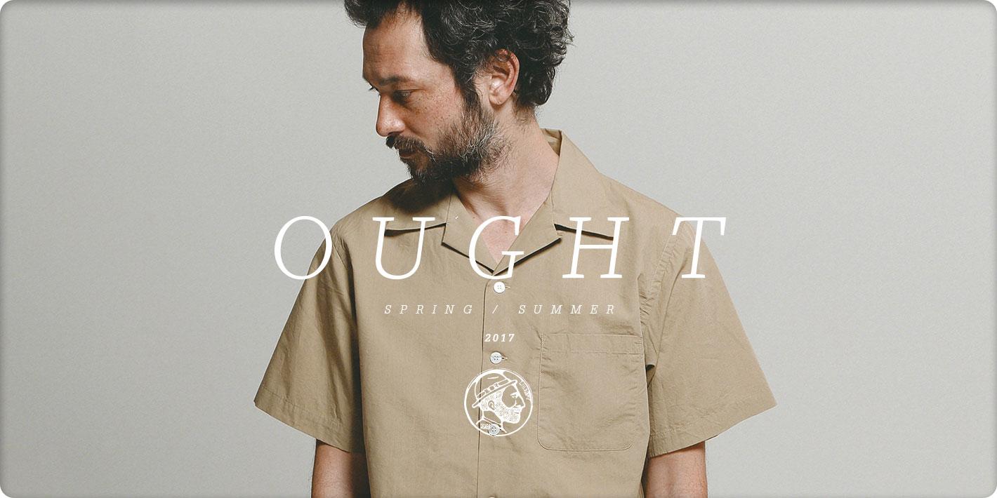 OUGHT Spring/Summer 2017 Open Collar Shirt