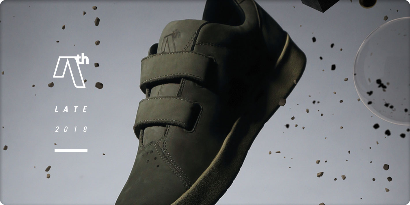 AREth Late 2018 model I velcro Gray Nubuck
